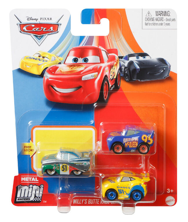 Disney Pixar Cars Mini Racers Willy's Butte Race Series 3-Pack