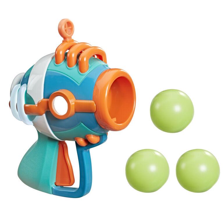 Pyjamasques, blaster de Roméo facile à utiliser, jouet préscolaire avec lance-balle en plastique