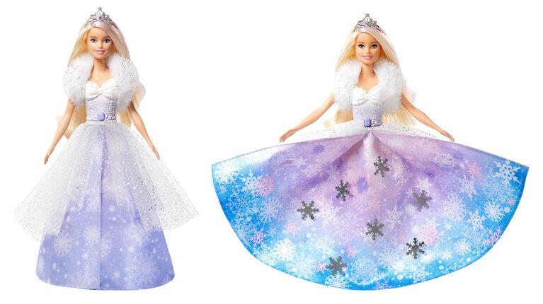 Poupée Barbie Princesse Révélation mode Barbie Dreamtopia, 31cm (12po), blonde avec mèche rose