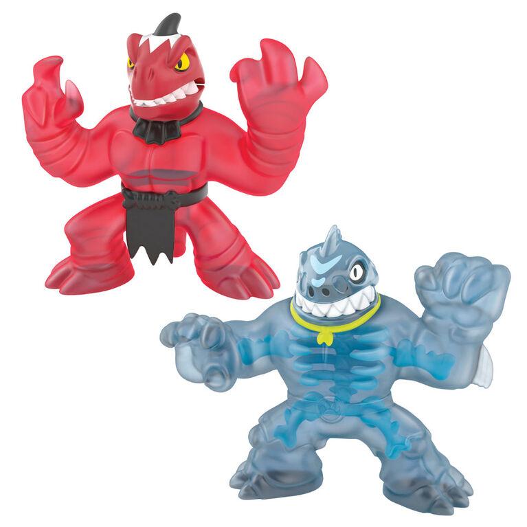 Heroes of Goo Jit Zu Dino X-Ray Versus Pack - Thrash Vs. Veraptz