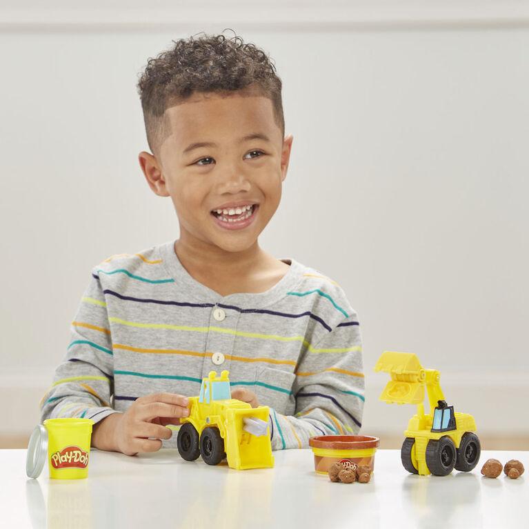 Excavatrice et chargeuse Play-Doh Wheels