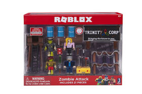 Roblox jeu de figurines d'attaque de zombies