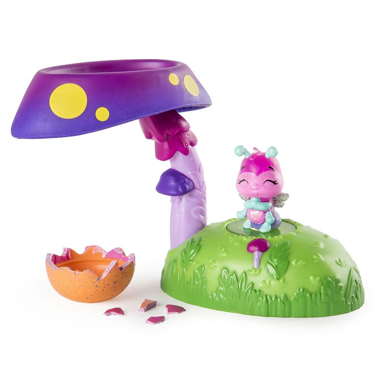 Hatchimals CollEGGtibles - Nid Hatchi lumineux Fabula Forest avec figurine exclusive Hatchimals CollEGGtible de saison 4.