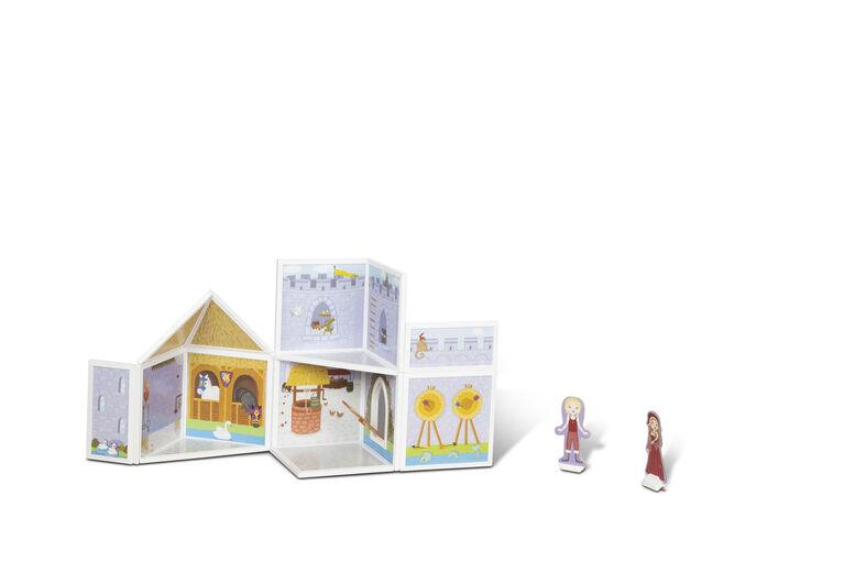 Melissa & Doug 82-Piece MAGNETIVITY Magnetic Building Play Set – Medieval Castle