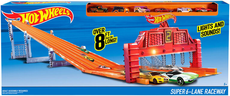 Hot Wheels - Piste de Course 6 Voies