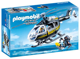 Playmobil - Hélicoptère et policiers d'élite <br>