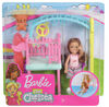 Barbie Club Chelsea Doll and Swing Set Playset with Teddy Bear Figure