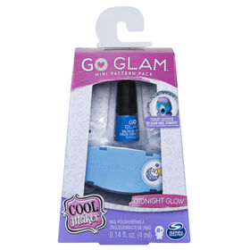 Cool Maker, GO GLAM Midnight Glow Mini Pattern Pack Refill, Decorates 25 Nails with the GO GLAM Nail Stamper