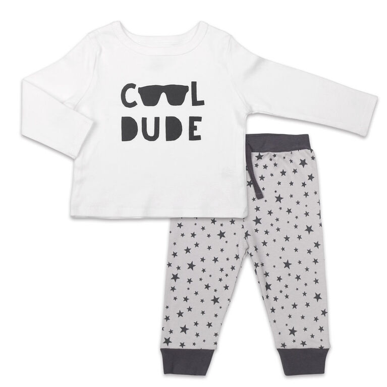 Koala Baby Let's Play Long Sleeve Shirt and Pants Set, Cool Dude  - 6-9 Months