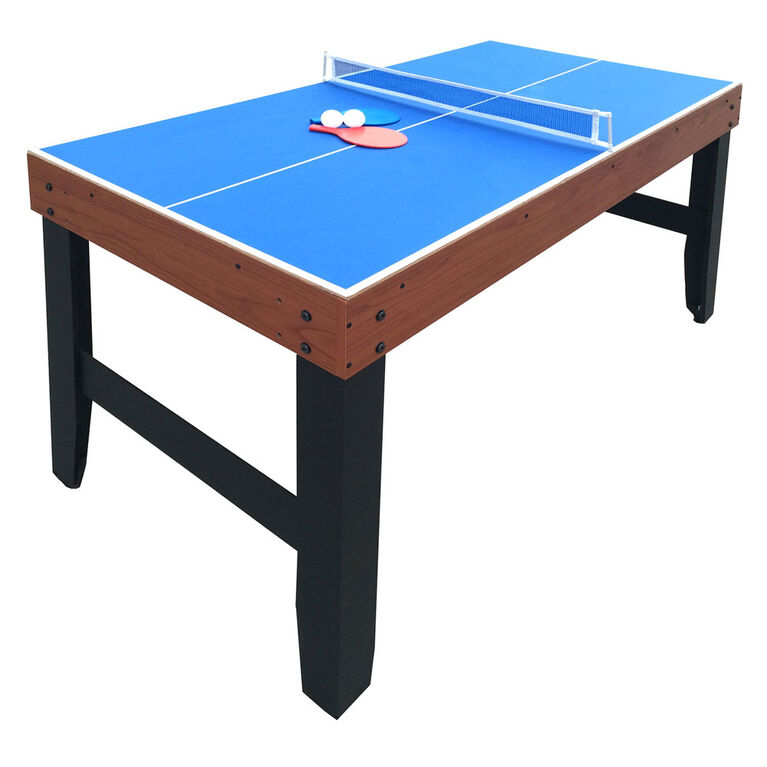 Accelerator 4-in-1 Multi-Game Table with Basketball, Air Hockey, Table Tennis and Dry Erase Board