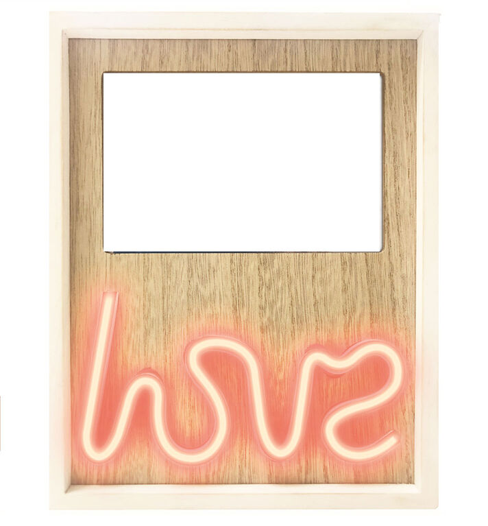 "Brilliant Ideas Neon ""LOVE"" Photo Frame"