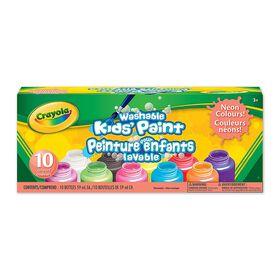 Crayola - Peinture pour enfants lavable néons
