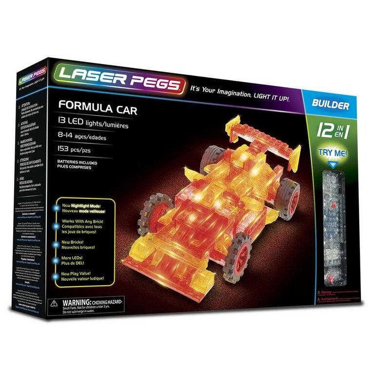 Laser Pegs Formula Car 12-In-1   Building Set