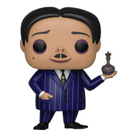 Bring a spooktacular touch to your collection with the first family of Halloween including Pop! Gomez. This Pop! is mysterious and spooky! The Addams Family Gomez Pop! Vinyl Figure measures approximately 3.75-inches tall.