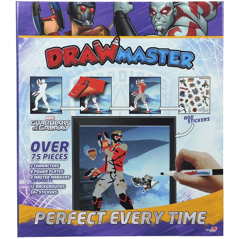 Drawmaster Marvel Avengers Exclusive Drawing Kit - Star Lord & Drax