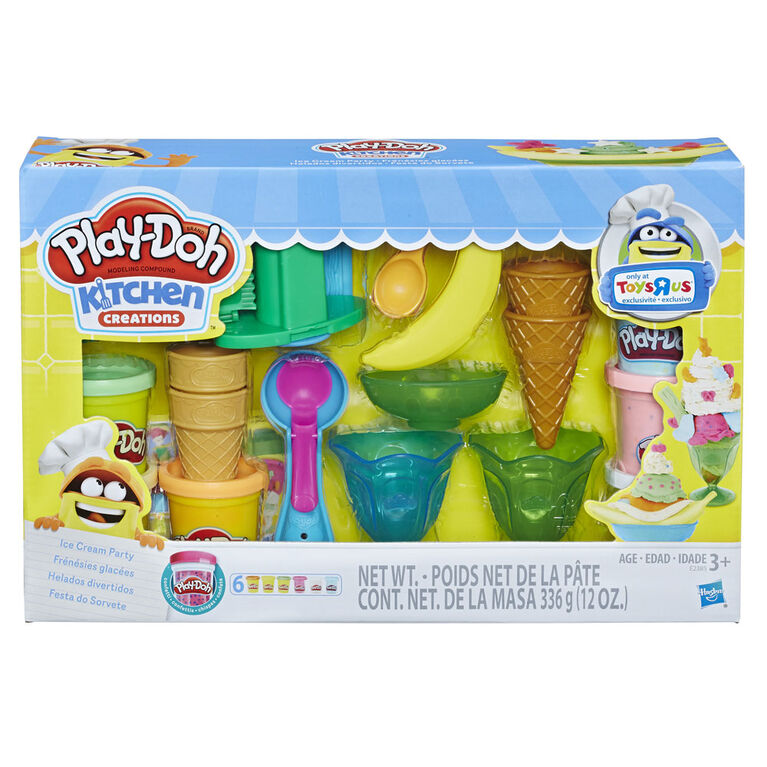 Play Doh Kitchen Creations Ice Cream Party Set