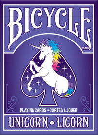 Bicycle cartes a jouer Licorne