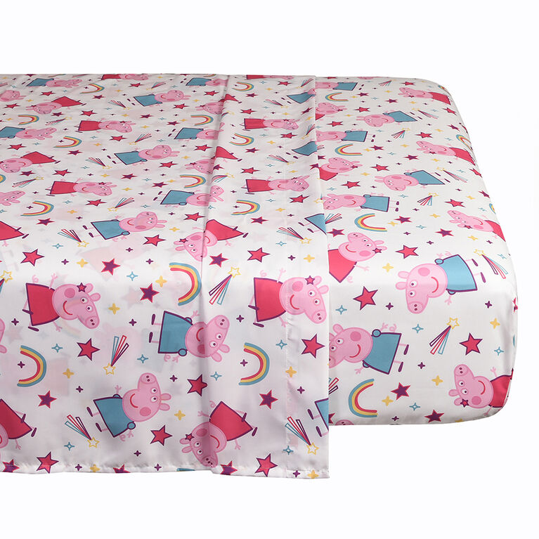 Peppa Pig 4-Piece Twin Bed in a Bag