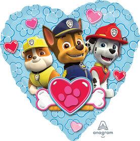"Paw Patrol Heart 18"" Foil Balloon"