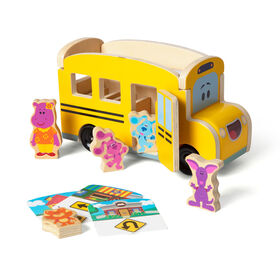 Blues Clues and You Wooden Pull-Back School Bus