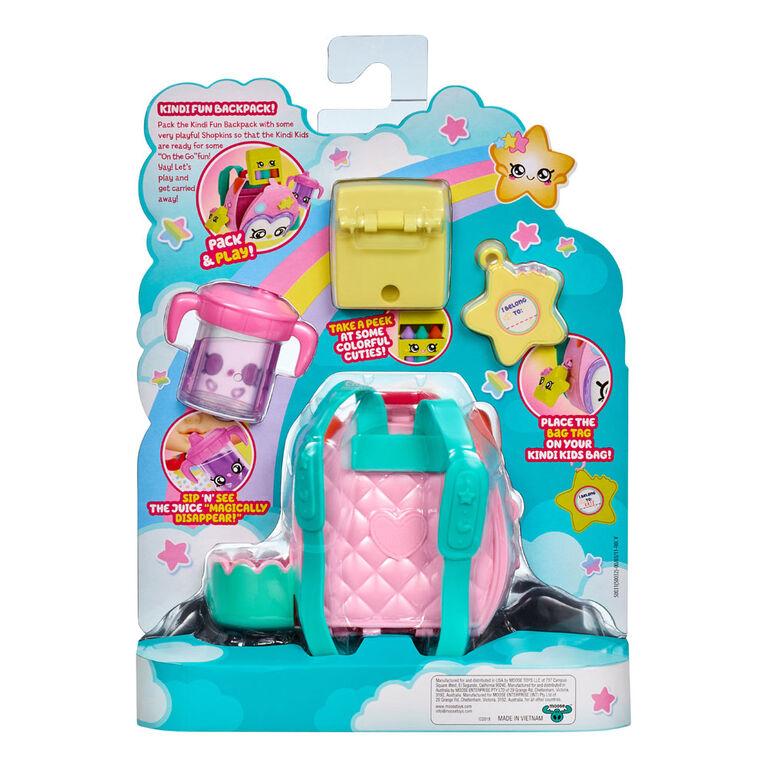 Shopkins Kindi Kids Fun Accessory Packs Set of 2 Backpack /& Lunchbox
