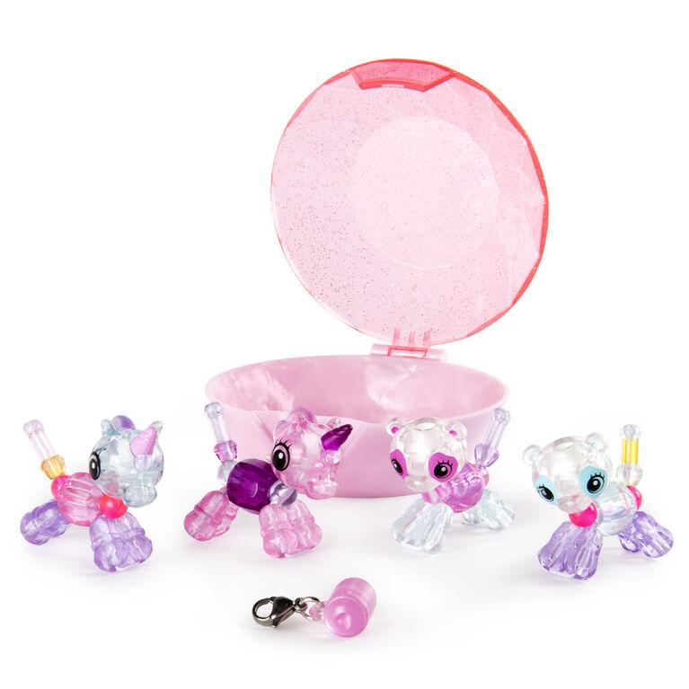 Twisty Petz - Pack de 4 - Bijoux pour enfants à collectionner Licornes et pandas