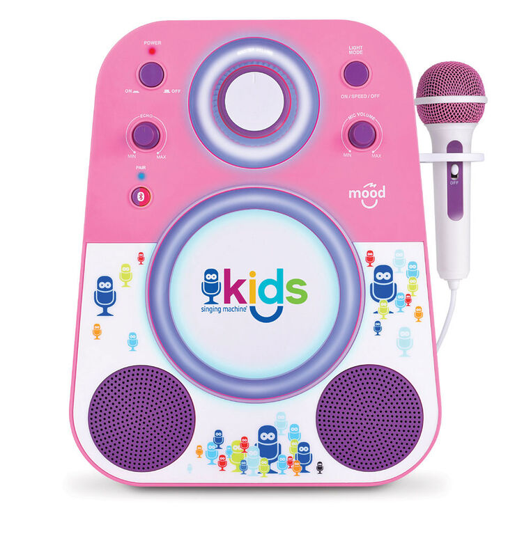 Singing Machine Bluetooth sing along system - Pink/Purple