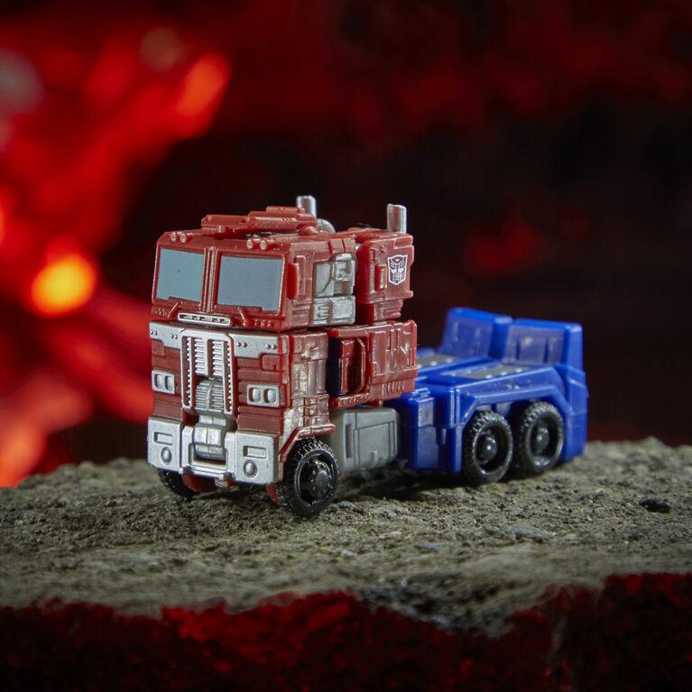 Transformers Generations War for Cybertron : Kingdom, figurine WFC-K1 Optimus Prime classe Origine