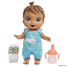 Baby Alive Baby Gotta Bounce Doll, Bunny Outfit, Bounces with 25+ SFX and Giggles, Drinks and Wets