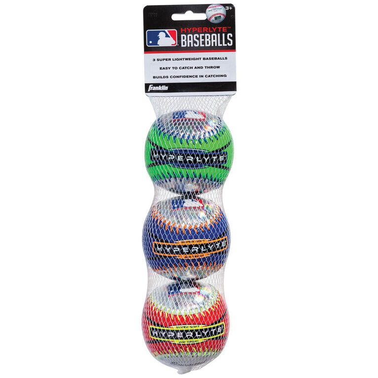 Franklin Sports MLB HYPERLYTE™ Baseball 3-Pack