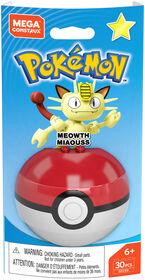 Mega Construx Pokemon Meowth Figure