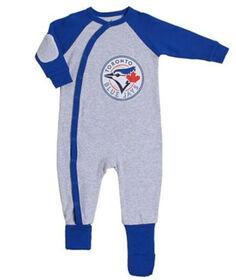 Snugabye Toronto Blue Jays Grey Infant Sleeper 12 months