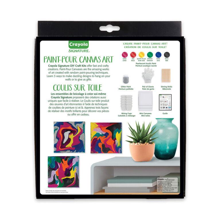 Crayola Signature DIY Paint-Pour Canvas Art Craft Kit