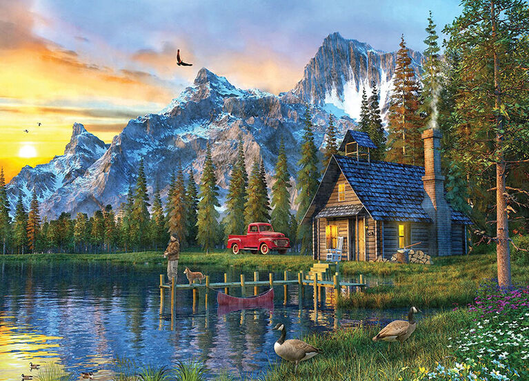 MasterPieces - Time away: Living the Dream - Log Cabin 1000 Pc casse-tête