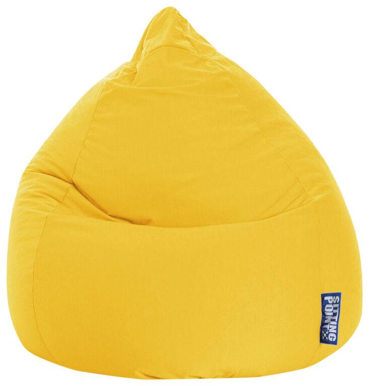 Gouchee Design - Beanbag Easy Fauteuil Poire Microfibre XL - Jaune