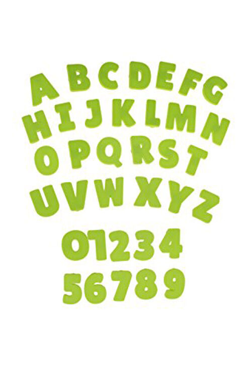 Strictly Briks - AlphaBriks and MathBriks - Big Briks - 36 Silicone Letters and Numbers - Green