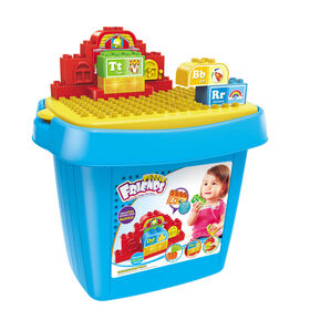 Toy Chef Children's Educational ABC Learning Block Set With Lights & Music
