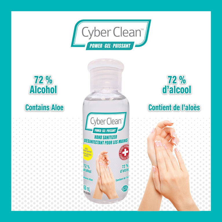 Cyber Clean Power Gel Sanitizer 60Ml