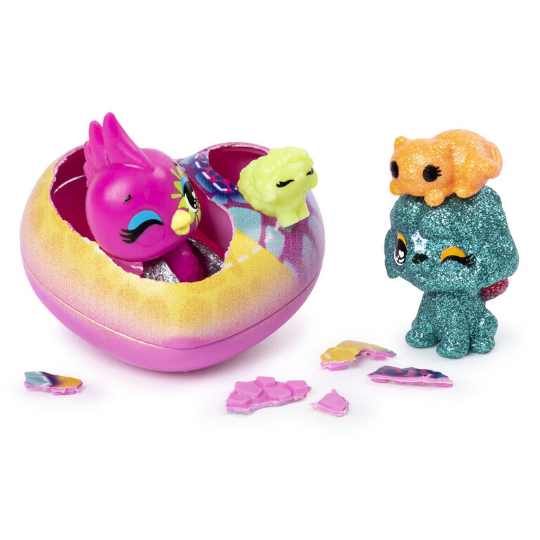 Hatchimals CollEGGtibles, Pet Obsessed HatchiPets 2-Pack with 2 CollEGGtibles and 2 Pets (Styles May Vary)