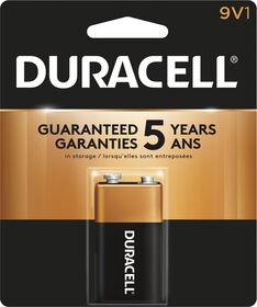 Piles Duracell coppertop Alcalines  9V- 1 unité