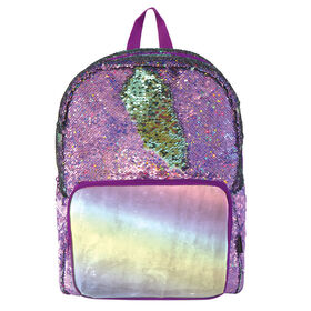 S. Lab Magic Sequin Backpack-Purple Holo/Seafoam