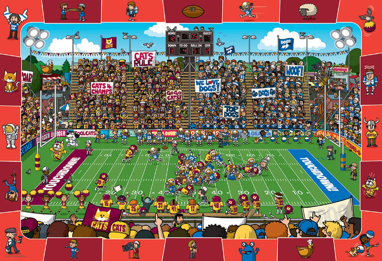 Eurographics Puzzle 100 pièces Spot & Find Football