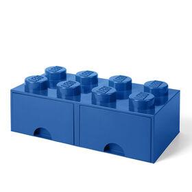 Tiroir de rangement LEGO 8 bleu
