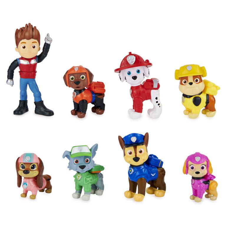 PAW Patrol, Liberty Joins the Team Gift Pack, Coffret de 8 figurines du film avec figurine à collectionner - Notre exclusivité