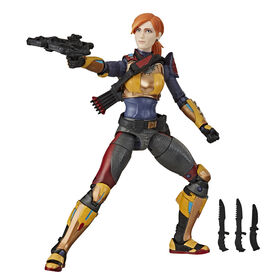 G.I. Joe Classified Series - Scarlett Action Figure Collectible 05 Premium Toy with Multiple Accessories with Custom Package Art