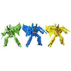 Transformers Generations War for Cybertron, figurine de classe voyageur, pack de 3 chasseurs