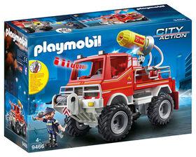 Playmobil - 4x4 de pompier avec lance-eau