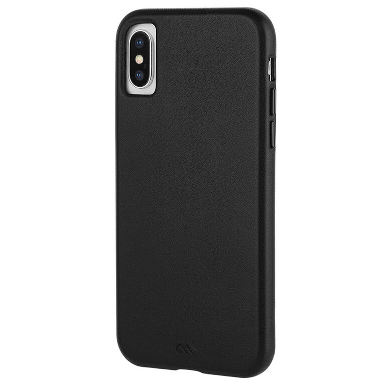 Case-Mate Barely There Leather Case iPhone Xs/X Black