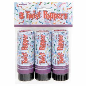 """Twist Poppers 4"""", 3"""
