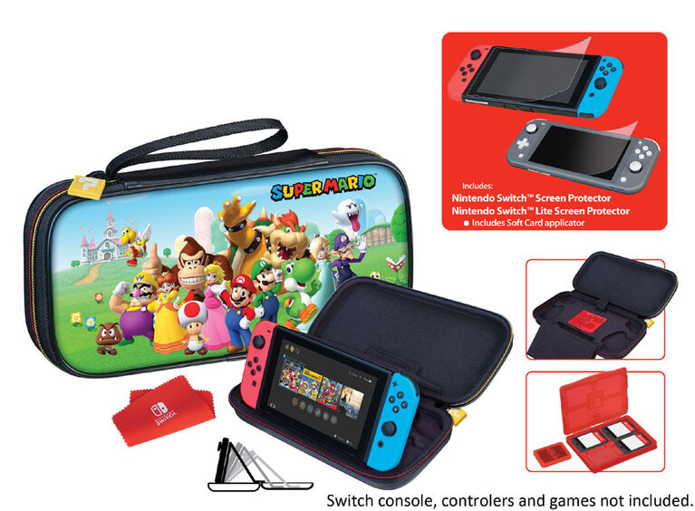 Nintendo Switch Game Traveler Case Bundle Supermario